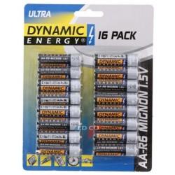 Baterijas R6 AA ULTRA, 16 gab