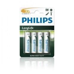 "Baterijas ""Philips  Long Life"" R6 AA 4 gab."