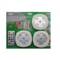 Lampiņas LED ar tālvadības pultu, 3 gab
