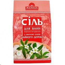 Sāls vannāi ar ēterisku eļļu (tējas koks), 500 gr