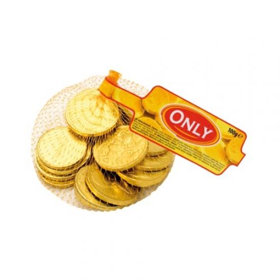 Piena šokolādes monētas 100 gr