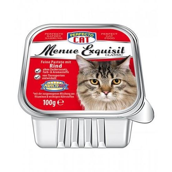 Perfecto Cat pastēte kaķiem ar liellopu gaļu 100 gr