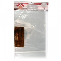 Celofāna maisi + stiprinājumi (25 gab.) 15,5x23cm