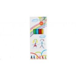 Krāsainie zīmuļi, 6 gab