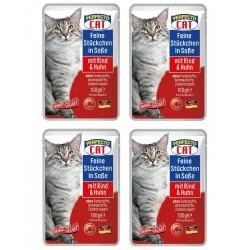 Perfecto Cat 100 g kaķu barība gabaliņos ar liellopa un vist
