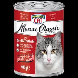 Perfecto cat kaķu barība ar liellopu un tītara gaļu, mērcē,