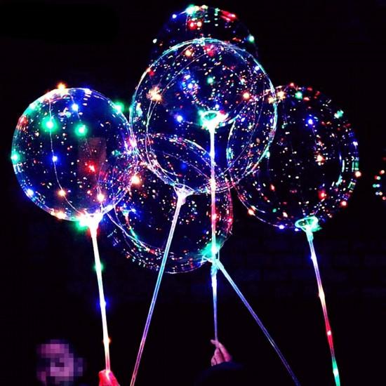 Piepūšamais balons ar LED gaismu