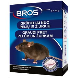 Bros зерна против мышей и крыс 120 г