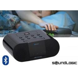 Radio pulkstenis ar USB lādētāju SOUNDLOGIC