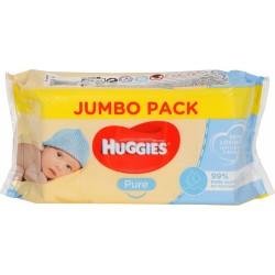 Mitrās salvetes Huggies Pure Jumbo Pack 72gb