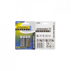 Baterijas DYNAMIC ULTRA R03 AAA, 4 gab