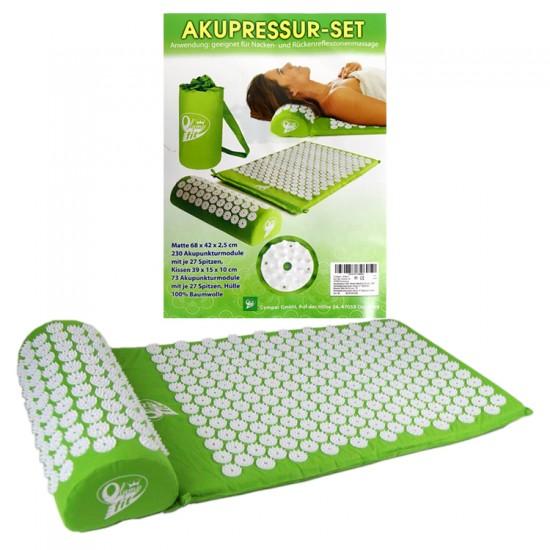 Akupunktūras masāžas kompl. (paklājiņš,68x42x2,5cm+spilvens