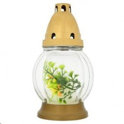 Kapu svece stikla svečturī, 16 cm L