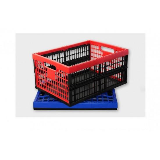 Saliekama plastmasas kaste max.30 kg, 48 x 35 x 23,5 cm