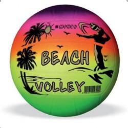Krāsaina volejbola bumba 21 cm