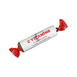 C vitamīns 25 mg ar zemeņu garšu 10 tabl.