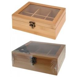 Bambusa kastīte tējai 210x160x78 mm