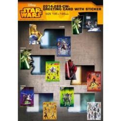 Apsveikumu kartiņa ar uzlīmēm STAR WARS