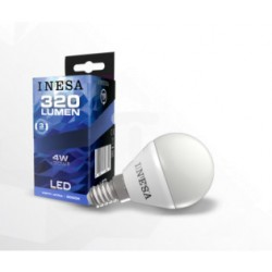 LED BALL E14 4W 240V 320lm 3000K 160' INESA spuldz