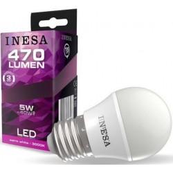 LED BALL E27 5W 240V 470lm 3000K 160' INESA spuldz