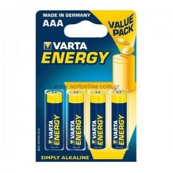 Baterijas AAAx4gab VARTA