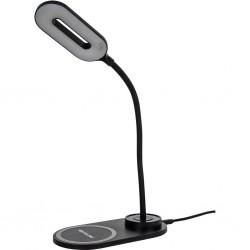 Dizaina galda lampa ar LED ar bezvadu lādētāju