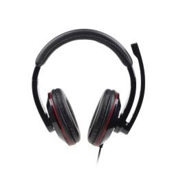 Stereo austiņas ar mikrofonu, melnas