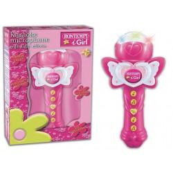 Rotaļu karaoke mikrofons BOTEMPI GIRL