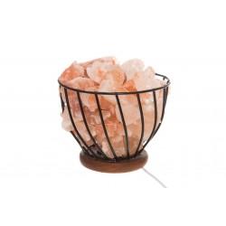Galda sāls lampa ar metāla bļodu 4Living
