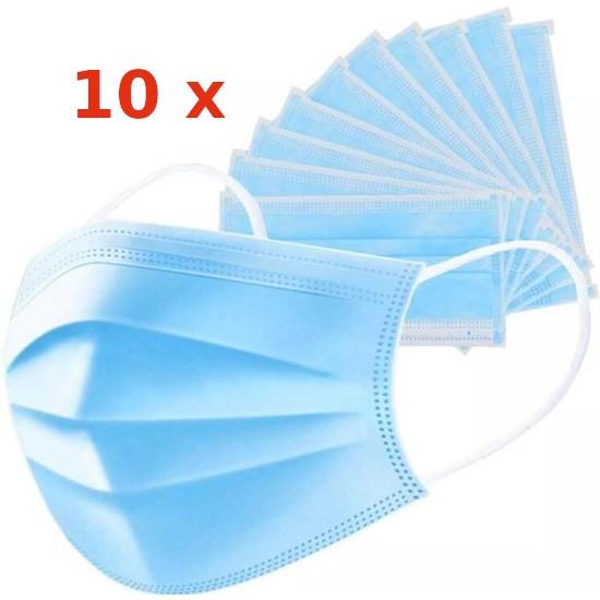 Sejas maskas 3-slāņu | 10gb zilas