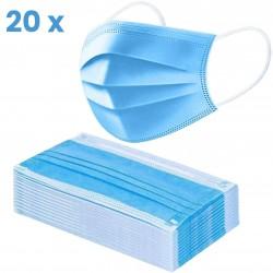 Sejas maskas 3-slāņu | 20gb zilas