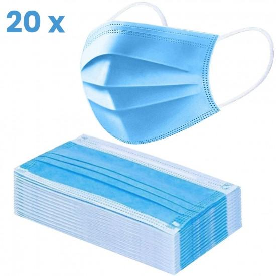 Sejas maskas 3-slāņu   20gb zilas