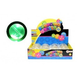 Bumbiņa ar gaismu un krāsainām mazām bumbiņām iekšā 6.5cm