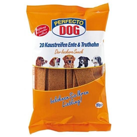 Perfecto Dog košļājamas strēmeles suņiem ar pīļu un tītara g